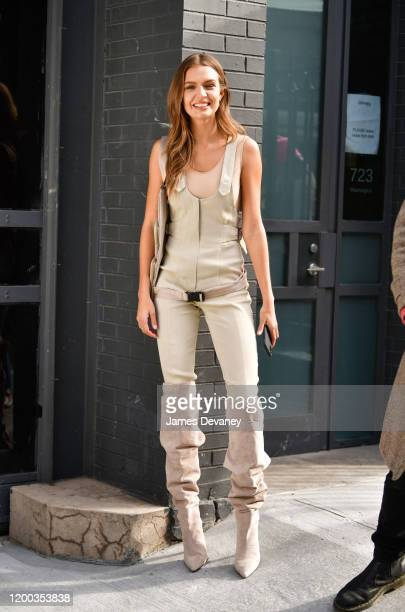 Josephine Skriver seen during a photoshoot in the West Village on February 12 2020 in New York City