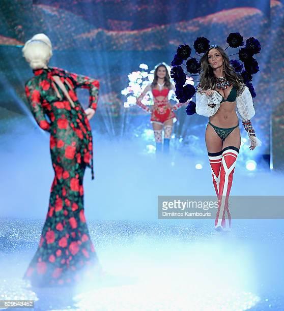 Josephine Skriver walks during the 2016 Victoria's Secret Fashion Show on November 30 2016 in Paris France