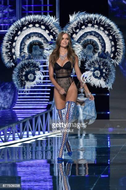 Josephine Skriver walks the runway at the 2017 Victoria's Secret Fashion Show In Shanghai Show at MercedesBenz Arena on November 20 2017 in Shanghai...