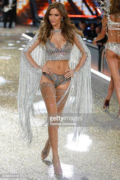 Josephine Skriver walks the runway during the 2016 Victoria's Secret Fashion Show at the Grand Palais in Paris on November 30 2016 in Paris France