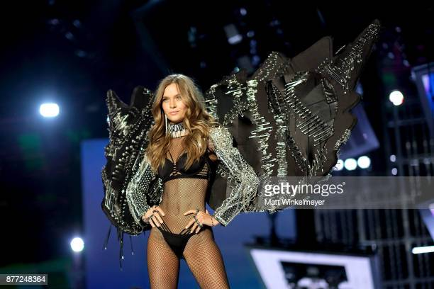 Josephine Skriver walks the runway during the 2017 Victoria's Secret Fashion Show In Shanghai at MercedesBenz Arena on November 20 2017 in Shanghai...