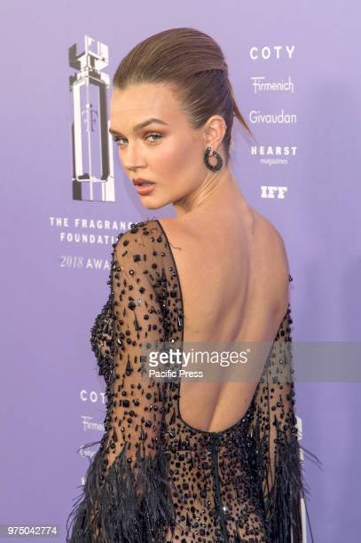 Josephine Skriver wearing dress by Zuhair Murad attends 2018 Fragrance Foundation Awards at Alice Tully Hall at Lincoln Center