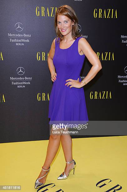 Josephine Thiel arrives for the Opening Night by Grazia fashion show during the Mercedes-Benz Fashion Week Spring/Summer 2015 at Erika Hess...