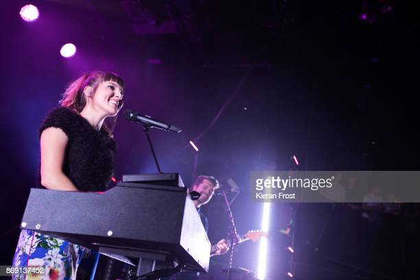 Josephine Vander Gucht and Anthony West of Oh Wonder perform live on stage at The Academy on November 1, 2017 in Dublin, Ireland.
