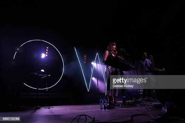 Josephine Vander Gucht and Anthony West of Oh Wonder performs at Electric Picnic Festival at Stradbally Hall Estate on September 4 2016 in Laois...
