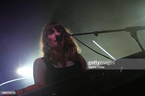 Josephine Vander Gucht of Oh Wonder performs at Electric Picnic Festival at Stradbally Hall Estate on September 4 2016 in Laois Ireland