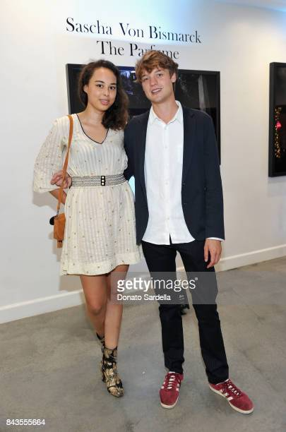 Josephine von Oswald Photographer Sascha von Bismarck and celebrity floral and fragrance designer Eric Buterbaugh attend the private opening of...