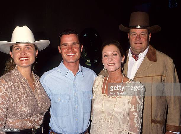 Josephine Wayne son Chris Wayne Gretchen Wayne and actor Michael Wayne attend 12th Annual Golden Boot Awards on August 13 1994 at the Beverly Hilton...