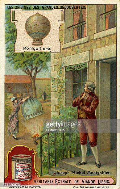 JosephMichel Montgolfier inventor of the or montgolfière globe aèrostatique or airship after noticing that hot air rises French inventor 26 August...