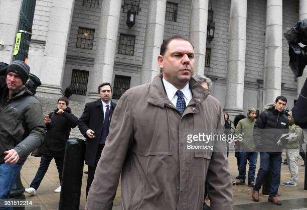 JosephPercoco a former top aide to Governor Andrew Cuomo center exits federal court in New York US on Tuesday March 13 2018 Percoco was found guilty...