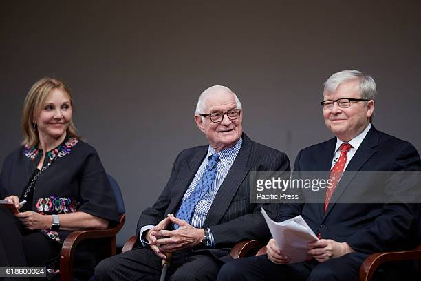 Josette Sheeran the current president and CEO of Asia Society Nicholas Platt who served as Asia Society's president from 1992 to 2004 Moderator Kevin...