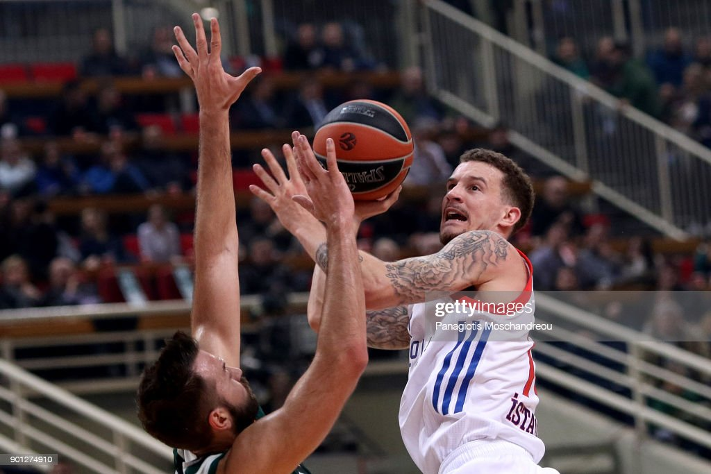 Josh Adams, #14 of Anadolu Efes Istanbul in action during the 2017/2018 Turkish Airlines EuroLeague Regular Season Round 16 game between Panathinaikos Superfoods Athens and Anadolu Efes Istanbul at Olympic Sports Center Athens on January 4, 2018 in Athens, Greece.