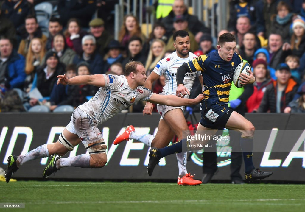 Worcester Warriors v Exeter Chiefs - Anglo-Welsh Cup : News Photo