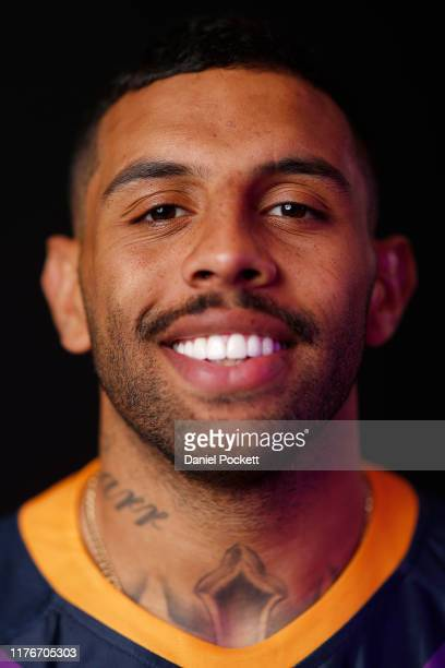 Josh Addo-Carr of the Storm poses for a photograph during a Melbourne Storm NRL training session on September 24, 2019 in Melbourne, Australia.