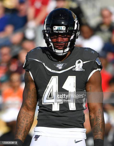 Josh Allen of the Jacksonville Jaguars looks on during the 2020 NFL Pro Bowl at Camping World Stadium on January 26 2020 in Orlando Florida