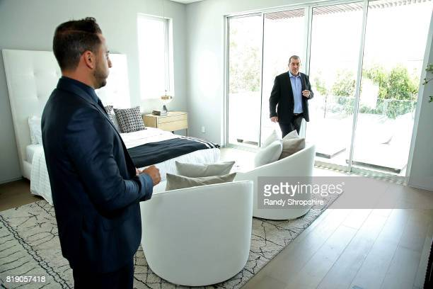 Josh Altman and Developer Ilan Kenig attend 'Million Dollar Listing's' Josh Altman Showing on July 19 2017 in Los Angeles California