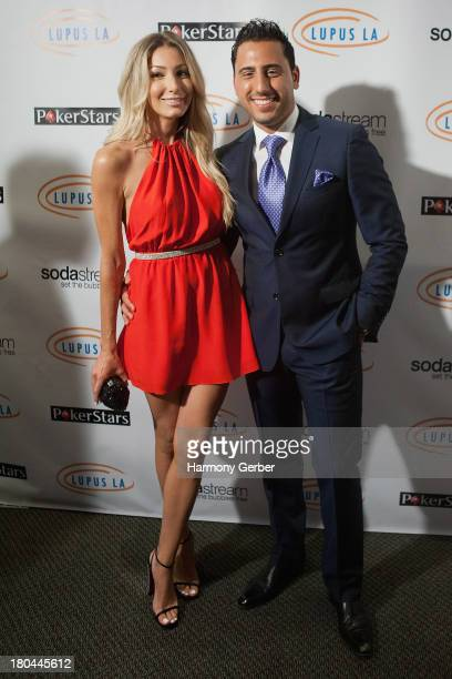 Josh Altman and fiancee Heather Bilyeu attend the Get Lucky For Lupus LA! event at Peterson Automotive Museum on September 12, 2013 in Los Angeles,...