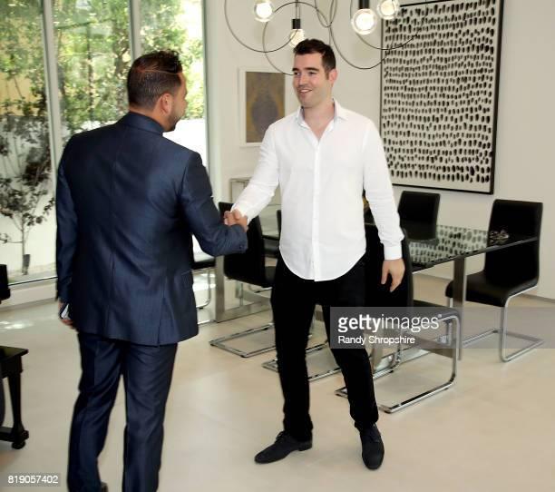 Josh Altman and Tal Kenig attend 'Million Dollar Listing's' Josh Altman Showing on July 19 2017 in Los Angeles California