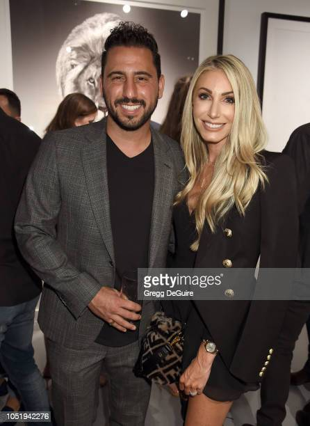 Josh Altman and wife Heather Altman attend the VIP Opening of Maddox Gallery Exhibition Best Of British at Maddox Gallery on October 11 2018 in Los...