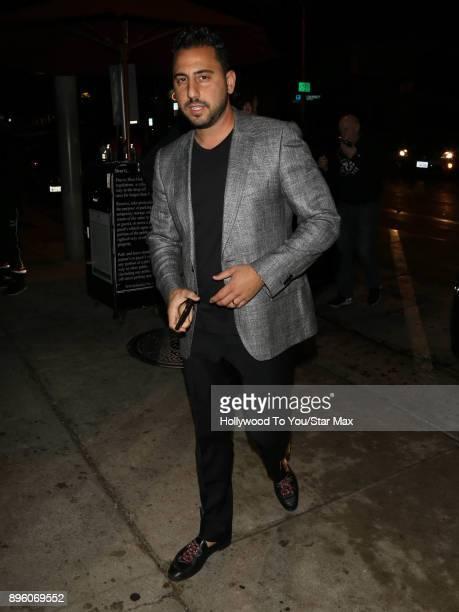 Josh Altman is seen on December 19 2017 in Los Angeles CA