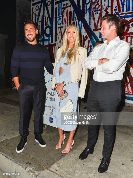 Josh Altman, Josh Flagg and Tracy Tutor are seen on October 22, 2021 in Los Angeles, California.