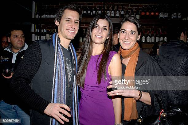 Josh Altman Lucia Tait and Rena Fischler attend COUP de COEUR Celebrates the Holidays with Shopping and Cocktails at FELICE WINE BAR at FELICE Wine...