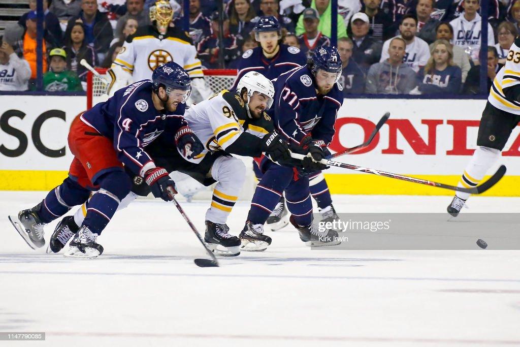 Boston Bruins v Columbus Blue Jackets - Game Six : News Photo