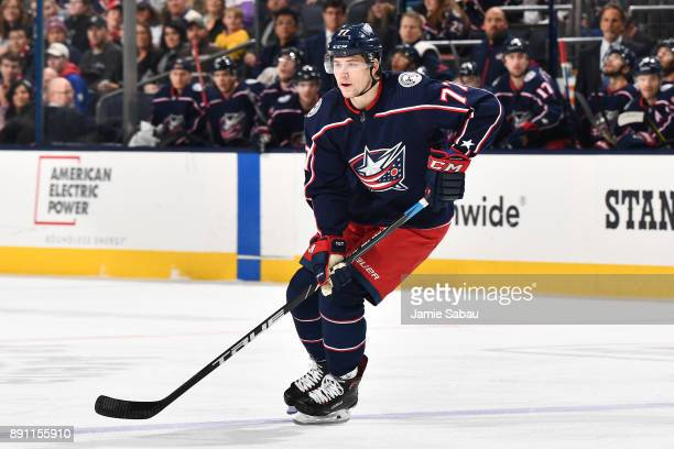 Josh Anderson of the Columbus Blue Jackets skates against the Arizona Coyotes on December 9 2017 at Nationwide Arena in Columbus Ohio
