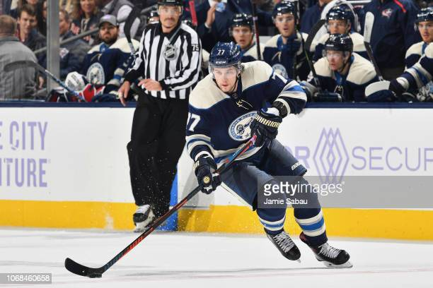 Josh Anderson of the Columbus Blue Jackets skates against the Florida Panthers on November 15 2018 at Nationwide Arena in Columbus Ohio