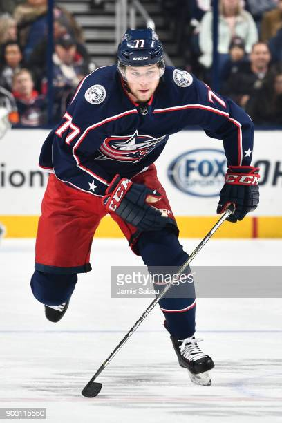 Josh Anderson of the Columbus Blue Jackets skates against the Florida Panthers on January 7 2018 at Nationwide Arena in Columbus Ohio