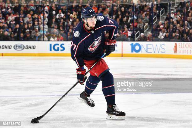 Josh Anderson of the Columbus Blue Jackets skates against the Philadelphia Flyers on December 23 2017 at Nationwide Arena in Columbus Ohio
