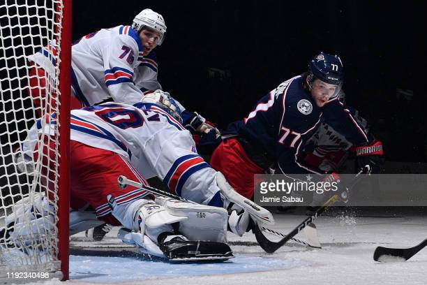 Josh Anderson of the Columbus Blue Jackets skates against the New York Rangers on December 5 2019 at Nationwide Arena in Columbus Ohio
