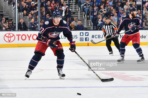 Josh Anderson of the Columbus Blue Jackets skates against the New York Rangers on October 13 2017 at Nationwide Arena in Columbus Ohio