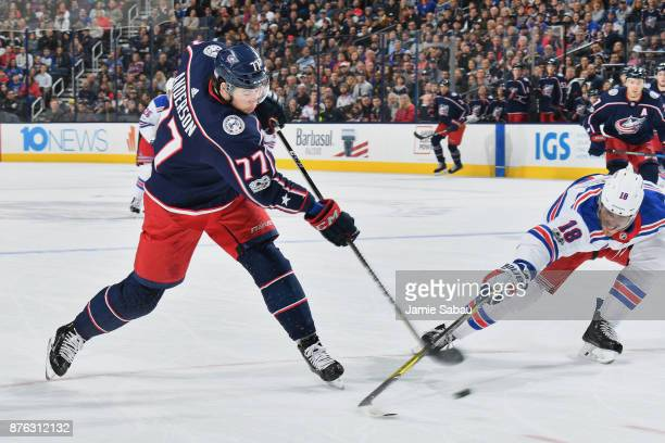 Josh Anderson of the Columbus Blue Jackets skates against the New York Rangers on November 17 2017 at Nationwide Arena in Columbus Ohio