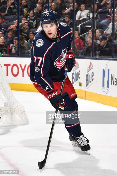 Josh Anderson of the Columbus Blue Jackets skates against the Edmonton Oilers on December 12 2017 at Nationwide Arena in Columbus Ohio