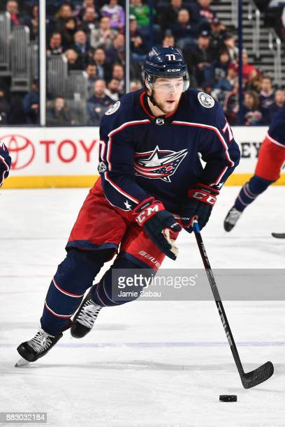 Josh Anderson of the Columbus Blue Jackets skates against the Carolina Hurricanes on November 28 2017 at Nationwide Arena in Columbus Ohio