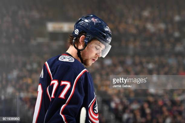Josh Anderson of the Columbus Blue Jackets skates against the Pittsburgh Penguins on February 18 2018 at Nationwide Arena in Columbus Ohio