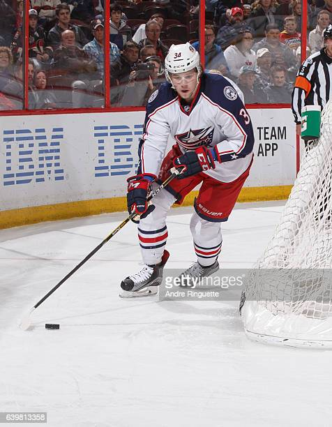 Josh Anderson of the Columbus Blue Jackets skates against the Ottawa Senators at Canadian Tire Centre on January 22 2017 in Ottawa Ontario Canada