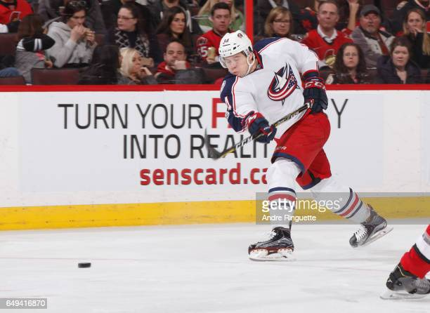 Josh Anderson of the Columbus Blue Jackets skates against the Ottawa Senators at Canadian Tire Centre on March 4 2017 in Ottawa Ontario Canada