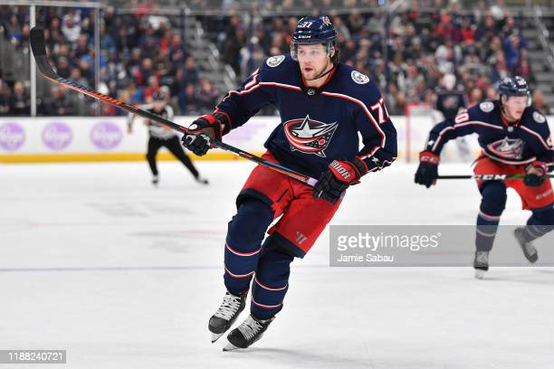 Josh Anderson of the Columbus Blue Jackets skates against the St Louis Blues on November 15 2019 at Nationwide Arena in Columbus Ohio