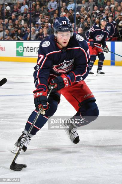 Josh Anderson of the Columbus Blue Jackets skates against the Tampa Bay Lightning on October 19 2017 at Nationwide Arena in Columbus Ohio