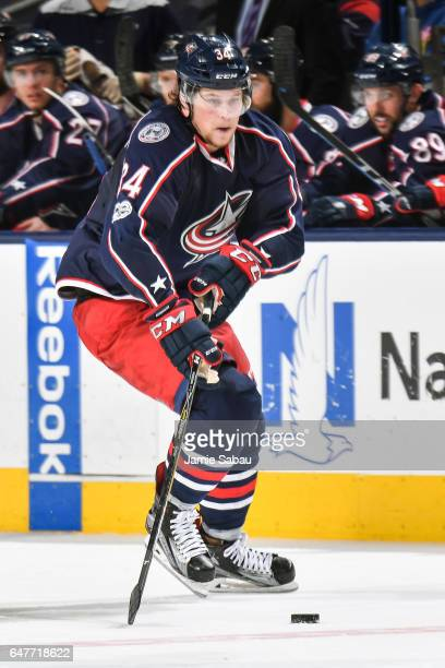 Josh Anderson of the Columbus Blue Jackets skates against the Minnesota Wild on March 2 2017 at Nationwide Arena in Columbus Ohio