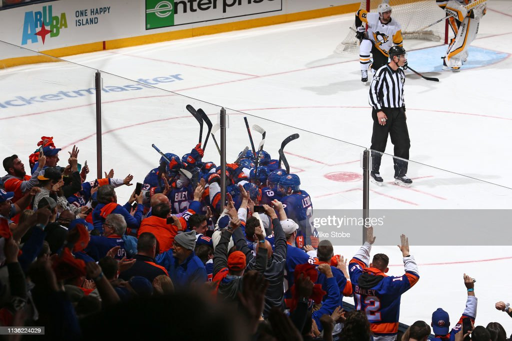 Pittsburgh Penguins v New York Islanders - Game One : News Photo
