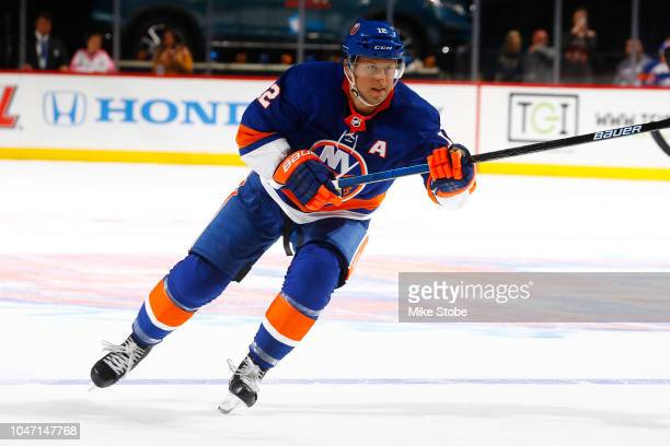 Josh Bailey of the New York Islanders skates against the against the Nashville Predators at Barclays Center on October 6 2018 the Brooklyn borough of...