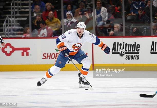 Josh Bailey of the New York Islanders skates against the Colorado Avalanche at the Pepsi Center on December 17 2015 in Denver Colorado