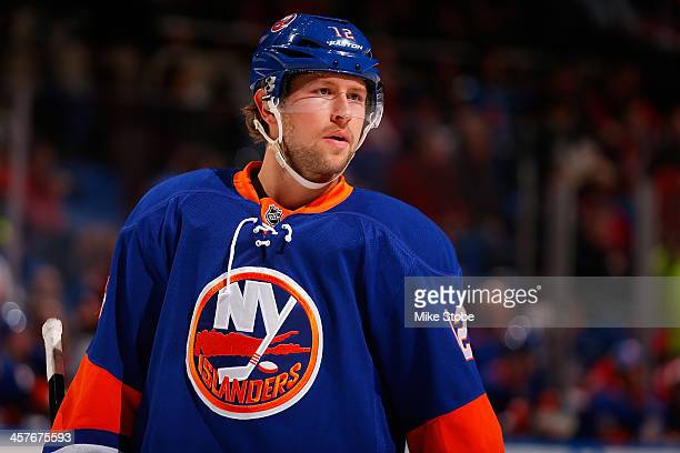 Josh Bailey of the New York Islanders skates against the Montreal Canadiens at Nassau Veterans Memorial Coliseum on December 14, 2013 in Uniondale,...