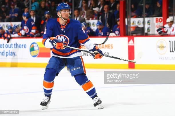 Josh Bailey of the New York Islanders skates against the Washington Capitals at Barclays Center on March 15 2018 in New York City Washington Capitals...
