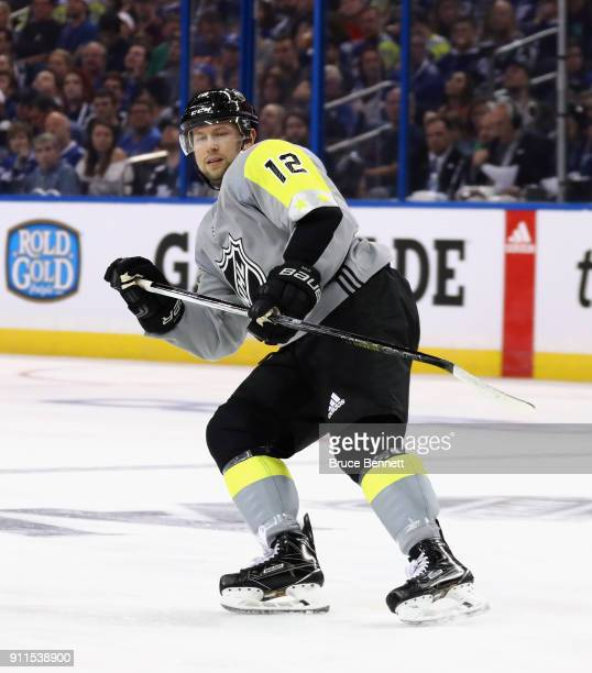 Josh Bailey of the New York Islanders skates during the 2018 Honda NHL AllStar Game between the Atlantic Division and the Metropolitan Divison at...