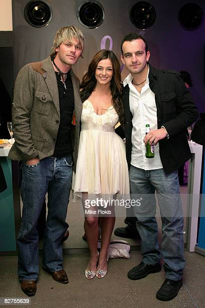 Josh BarkerKirsty Lee AllanArron Carruthers attend the official launch of 'Make a Wish with Mariah Carey' at Icebergs on September 10 2008 in Sydney...