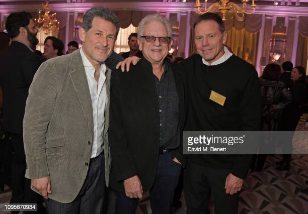 Josh Berger Jeremy Thomas and Bill Gerber attend attends the 91st Academy Awards Champagne Tea Reception at Claridge's Hotel on February 8 2019 in...